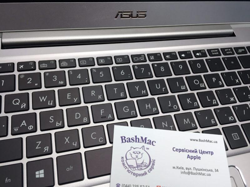 Гравировка на клавиатуре ASUS