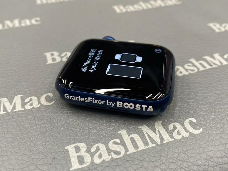 Лазерная гравировка на синих Apple Watch 6