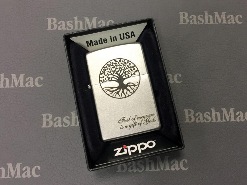 Нанесение текста и картинки на зажигалку Zippo с помощью лазерной гравировки