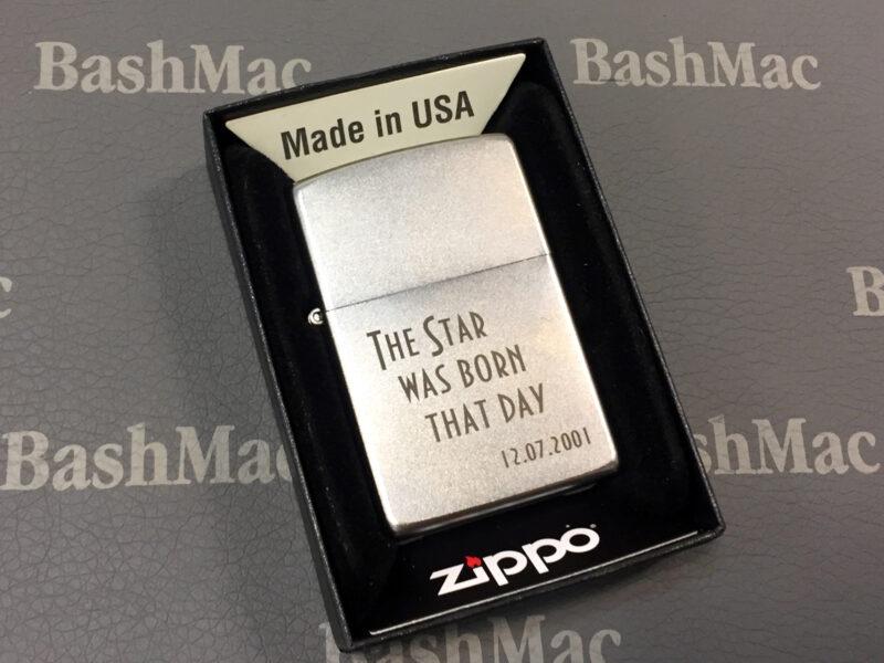 Добавить любой текст на зажигалку Zippo