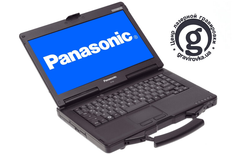Лазерная гравировка на клавиатуре ноутбука Panasonic